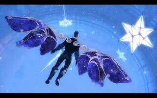 《激战2》激战2冬幕节物品展示[星光之翼]背+滑翔翼[出自黑狮宝箱](视频)