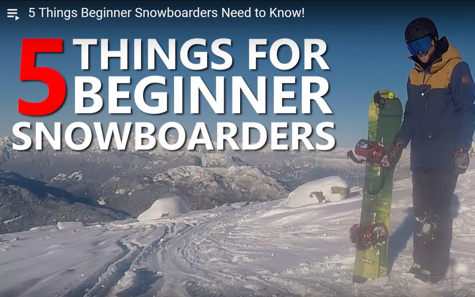 【单板滑雪教学】新手必须知道的五个小技巧(中文字幕)