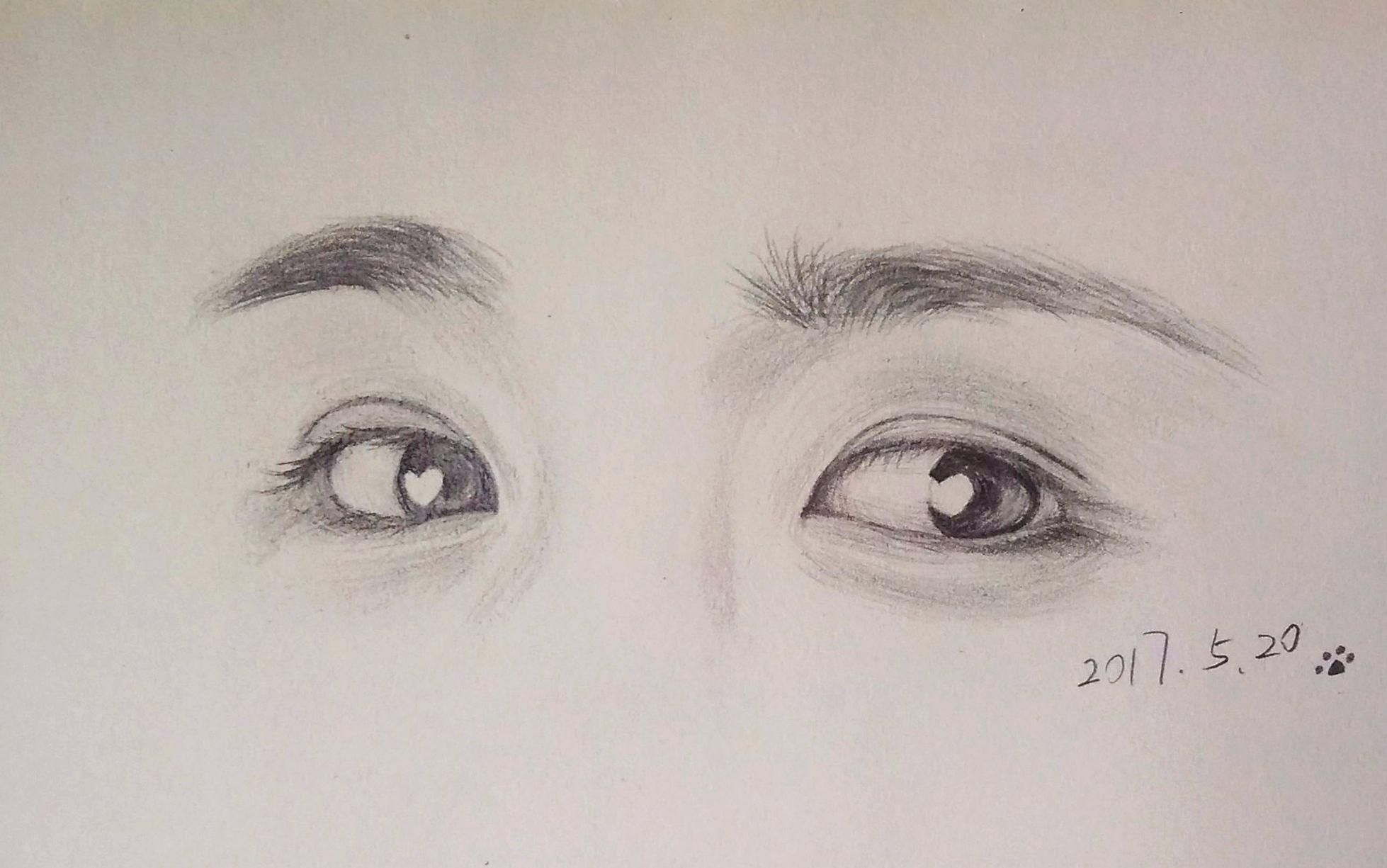 手绘教程 大野智眼睛部分 这大概是一个铅笔画教程 哔哩哔哩 ゜ ゜ つロ 图片