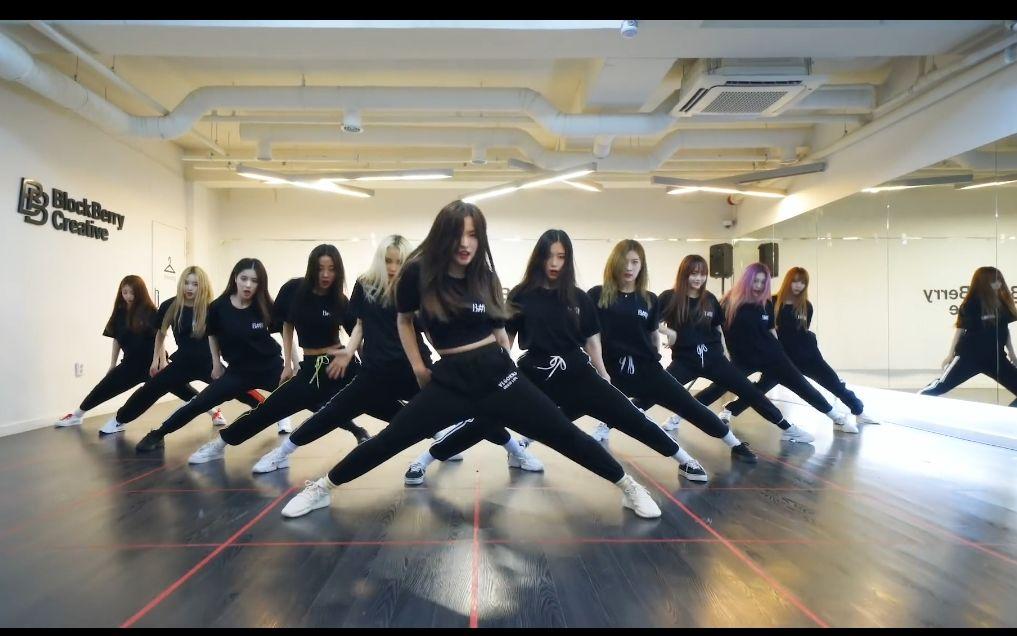好帅一群女的!本月少女Cover  NCT127的Cherry Bomb练习室公开