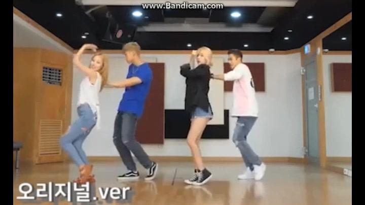 K.A.R.D  HOLA HOLA练习室版 KARD舞蹈