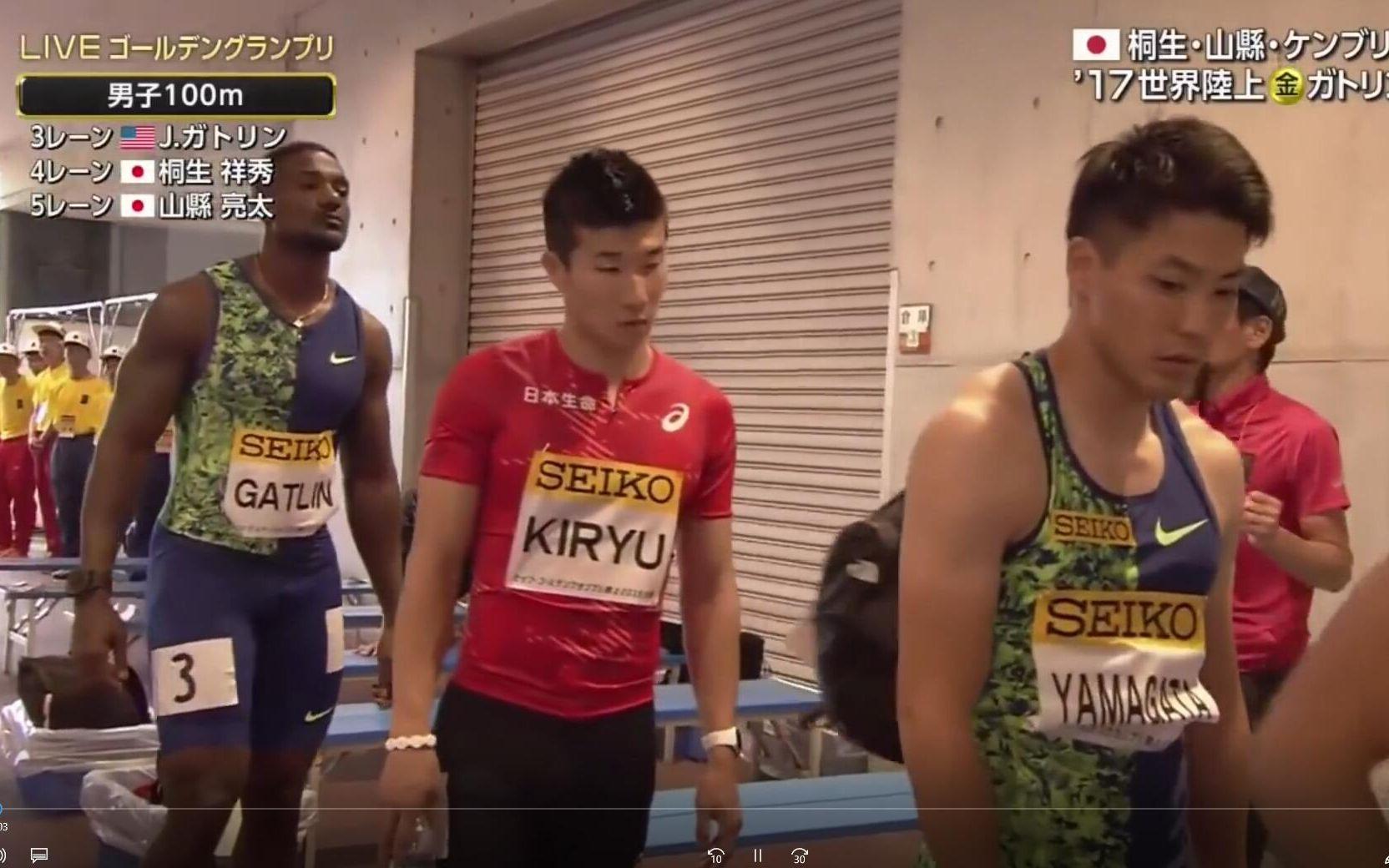 世界 陸上 100m 準決勝
