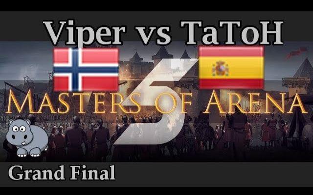 【TheViper】《帝国时代2》丛林竞技场大师赛总决赛 vs TaToH - Bo9 TheViper第一视角