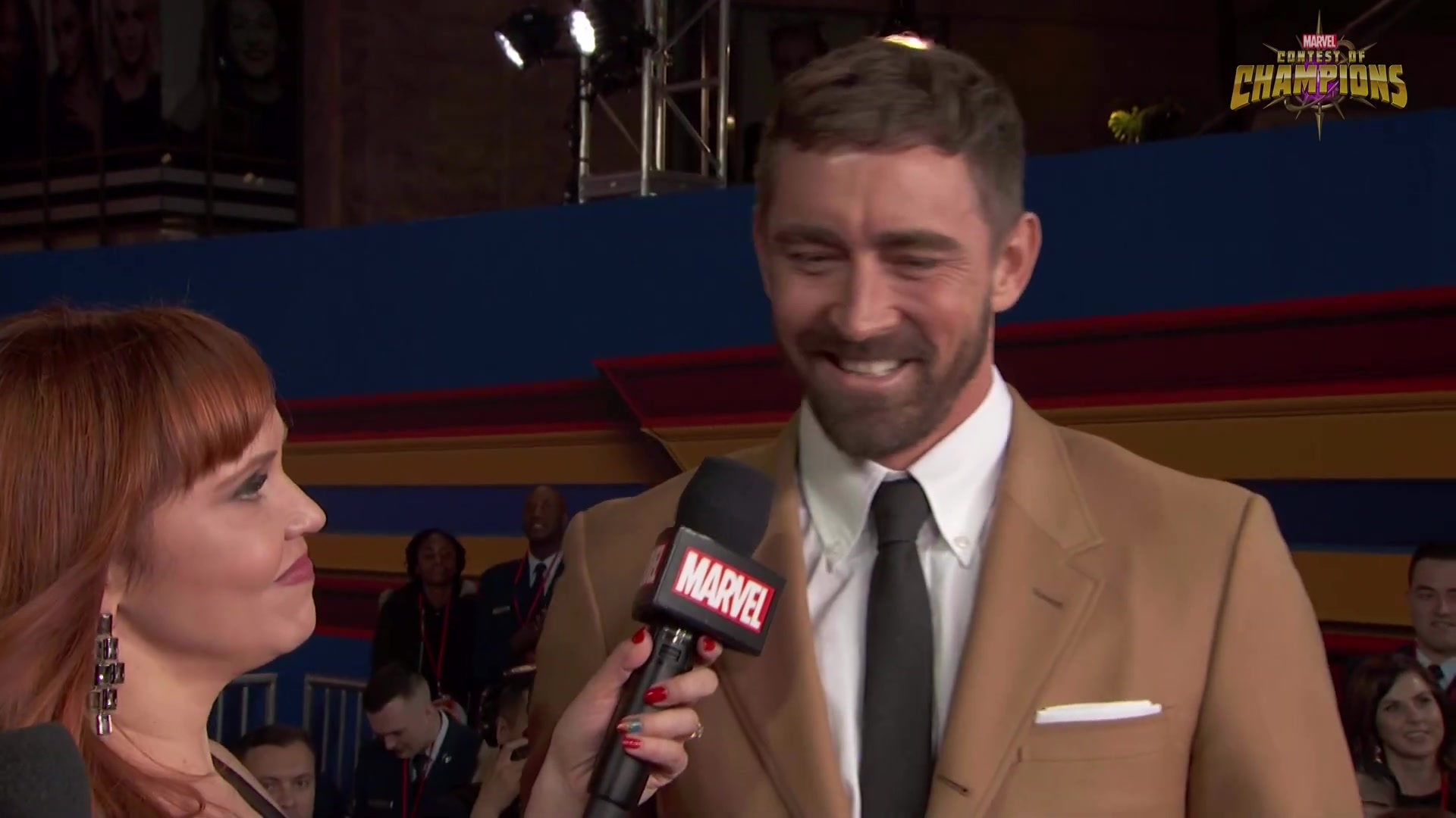 李佩斯-惊奇队长世界首映LA红毯采访 Lee Pace arrives at the Captain Marvel Red Carpet Premiere