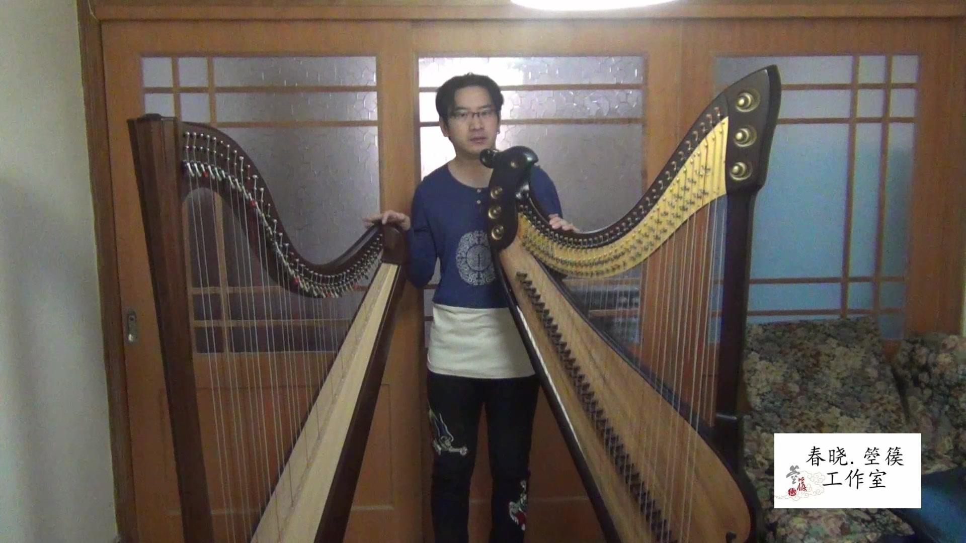 【春晓讲箜篌】第三课:箜篌与竖琴对比 「这里是箜篌不是竖琴哦(*/ω图片