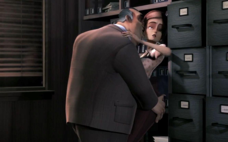 黑暗人性动画:暗恋的女同事被老板骚扰,我是做英雄还是要工作?