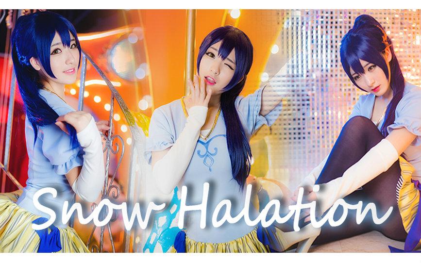 【幺鸡】♥Snow Halation♥( ̄3 ̄)☆第二作☆wuli海爷生日快乐!!马戏团未觉醒海未ver.