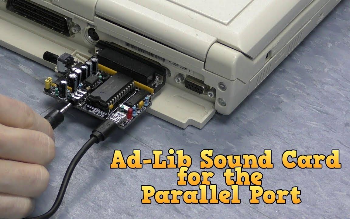 【8-Bit Guy】并口的 Adlib 声卡 OPL2LPT 组装评测
