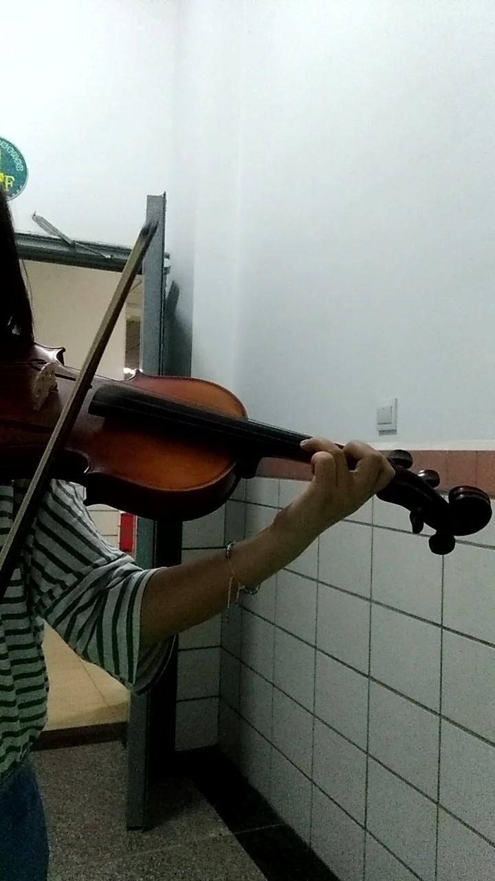 小提琴,真心害怕,忘谱,练了一晚上,加油吧~  这个是演奏完《新春乐》图片