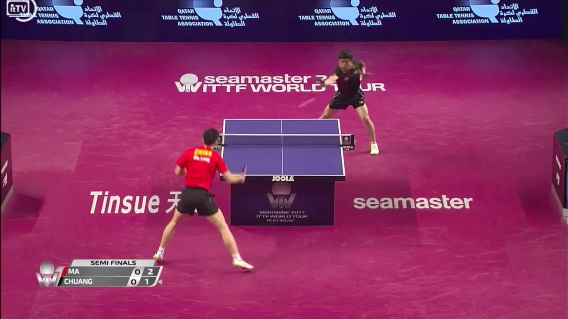 马龙vs庄智渊 Qatar Open Men's Single