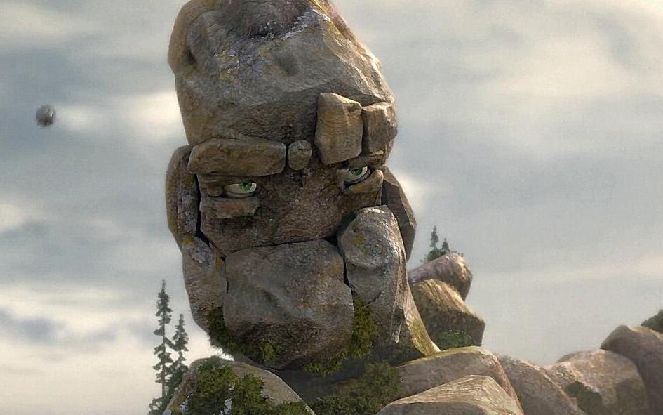 【动画短片】尽了力的石头人