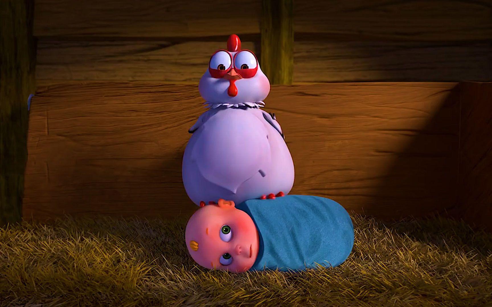 动画:女孩抢走母鸡下的蛋,母鸡为了报复,也抢走了她的孩子!