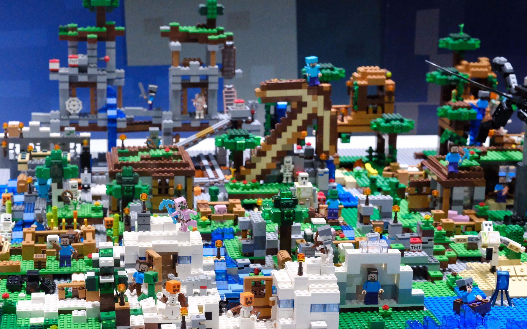 超大lego我的世界沙盘