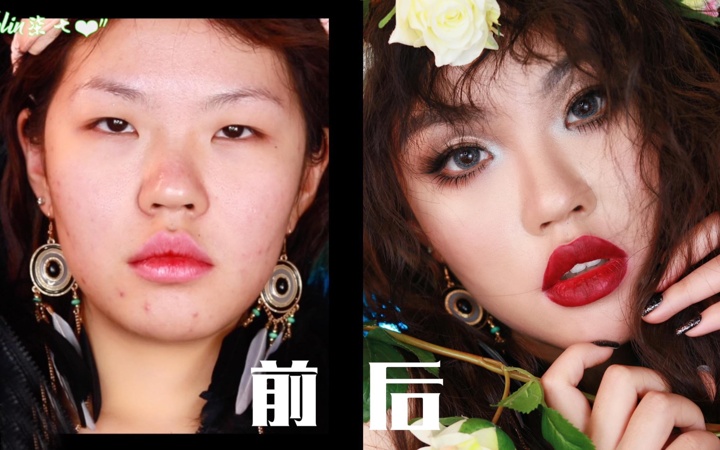 【Kylin柒七】CROXX最新凋零花园唇釉全妆试色,一个look+4个唇色