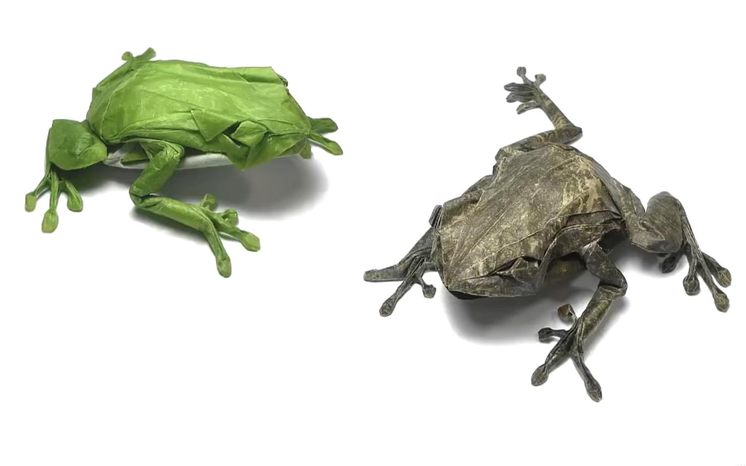 【搬运折纸】no_22_青蛙 设计者:神谷哲史 视频录制者