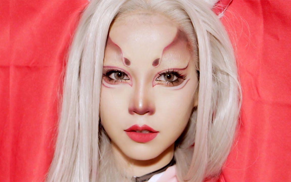 xfplay成人a片_【sichen】万圣节妆容:白狐