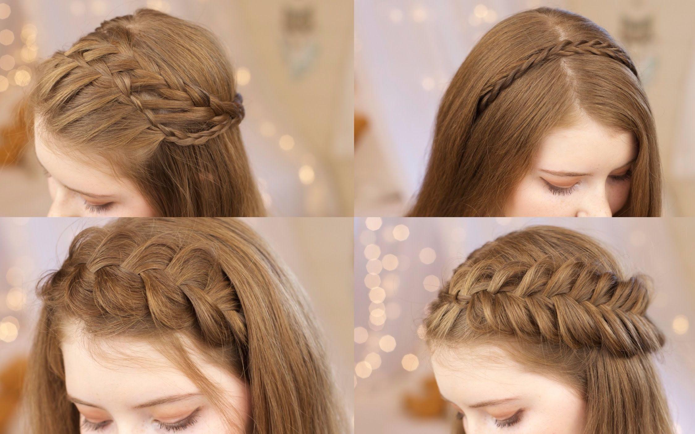 中长发编发-简易发型中长发的编发/教你扎100种头发/中长发编发教程图片