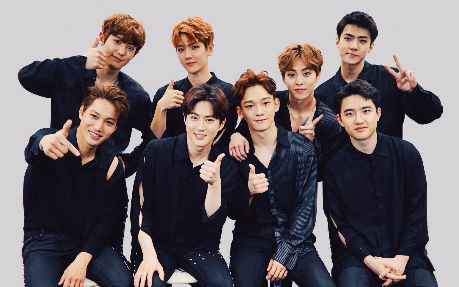 谁有exo这种图片的,我要他们12人的,如果有合照的话也