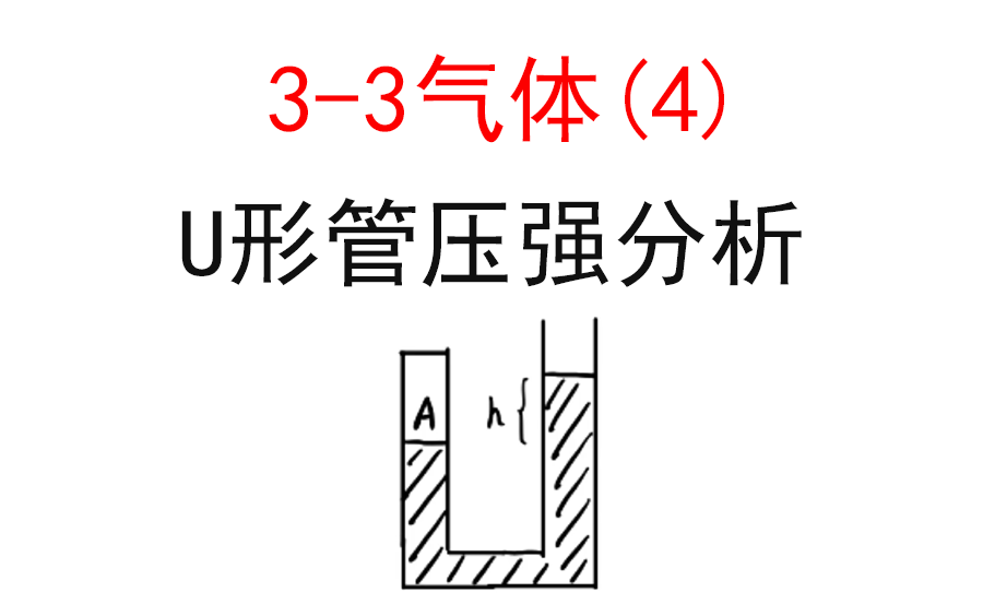 【选修3-3】【理想气体】21.U形管分析