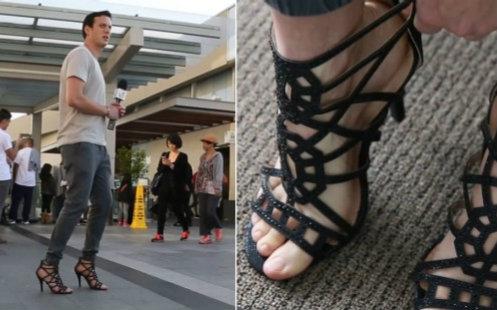 这种高跟鞋男人可以穿吗图片