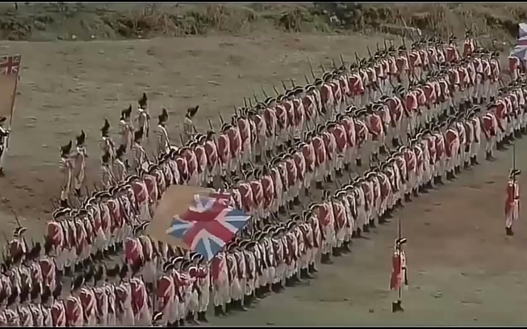 【排队枪毙】英军听着掷弹兵进行曲吊打一分钟人