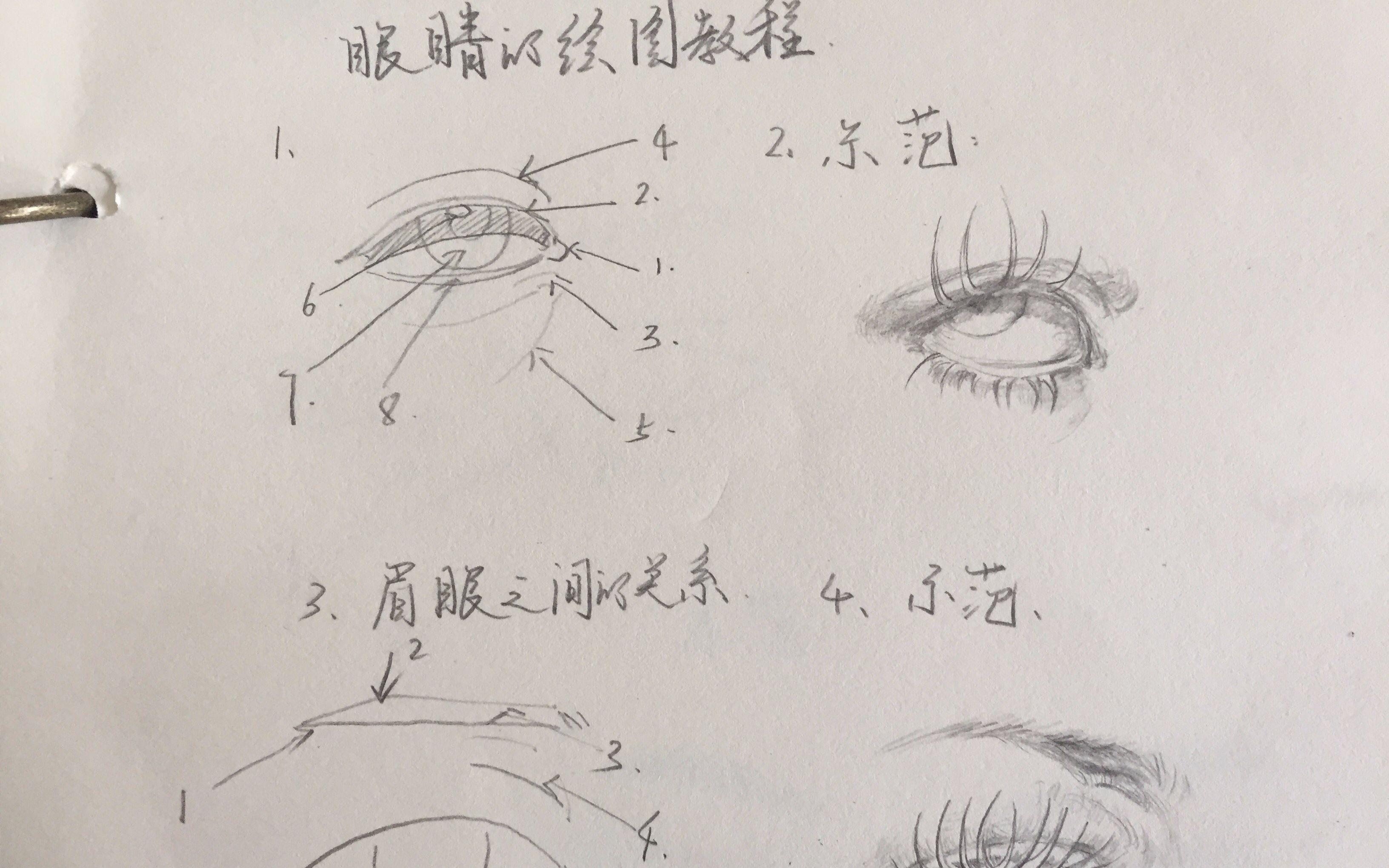 眼睛怎么画简单又漂亮 图片合集图片