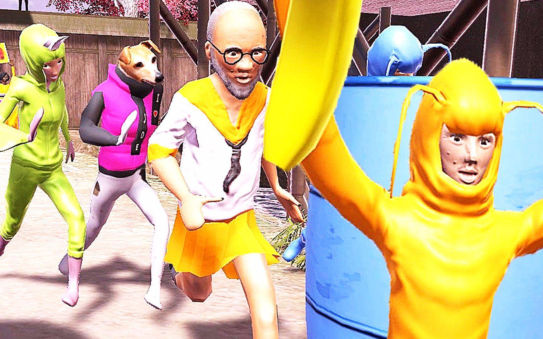 【屌德斯u0026小熙】 搞怪的人类 疯狂的人类穿着奇装异服满大街狂奔!