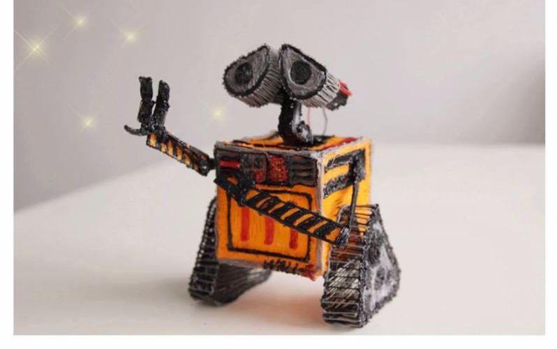 【造个瓦力机器人】  一支3d打印笔就搞定