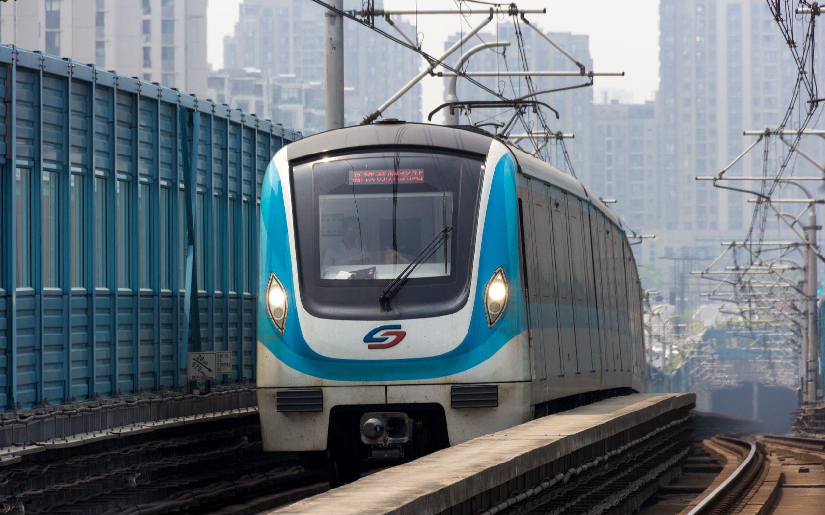【地铁pov】红色的线路蓝色的车身?-----苏州轨道交通2号线前方展望图片