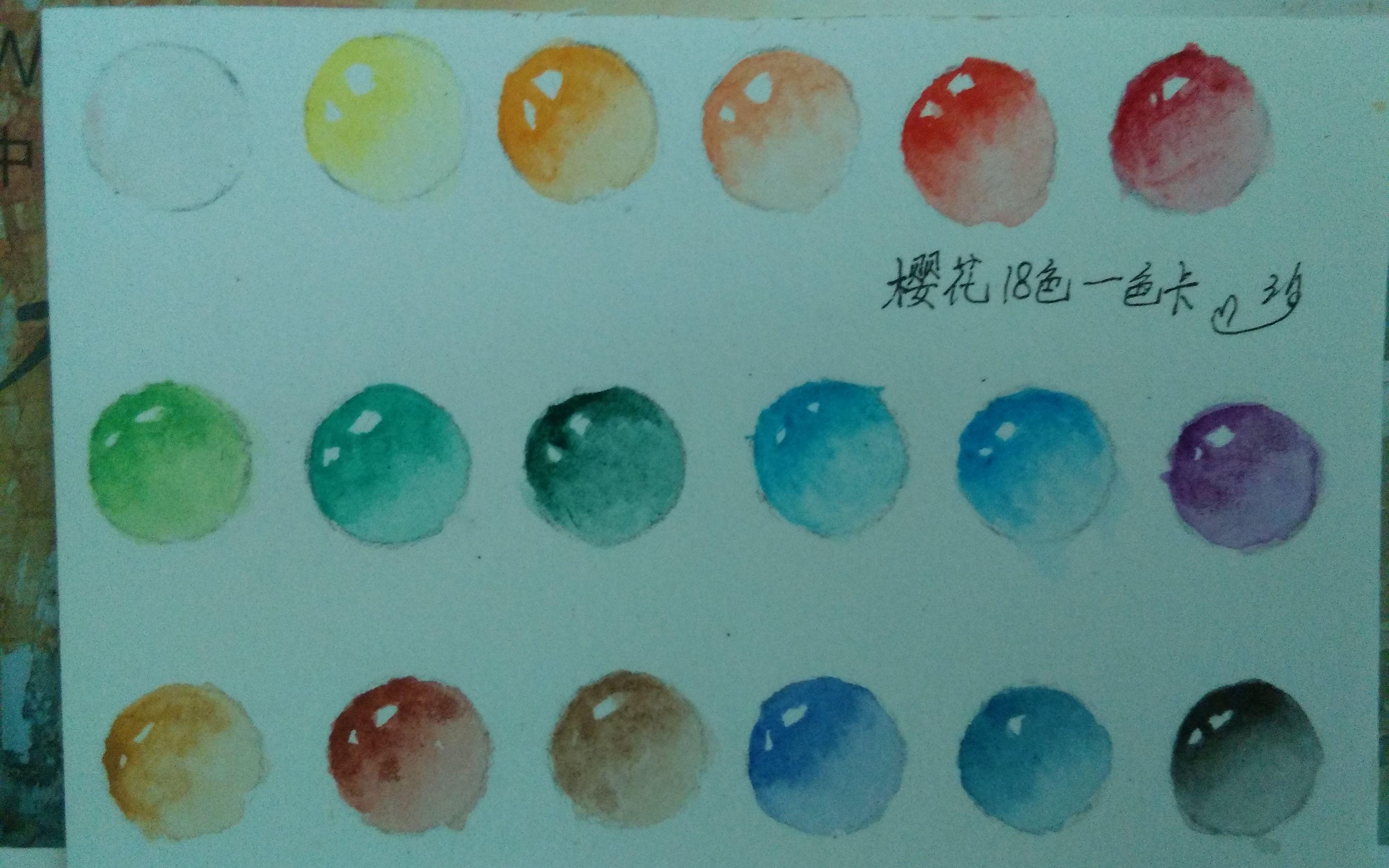 水彩樱花画法步骤