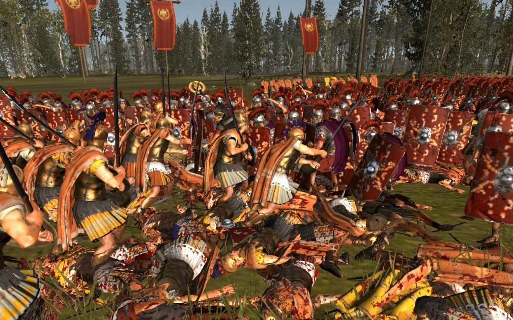 罗马2全面战争-色雷斯贵族对阵罗马禁卫军