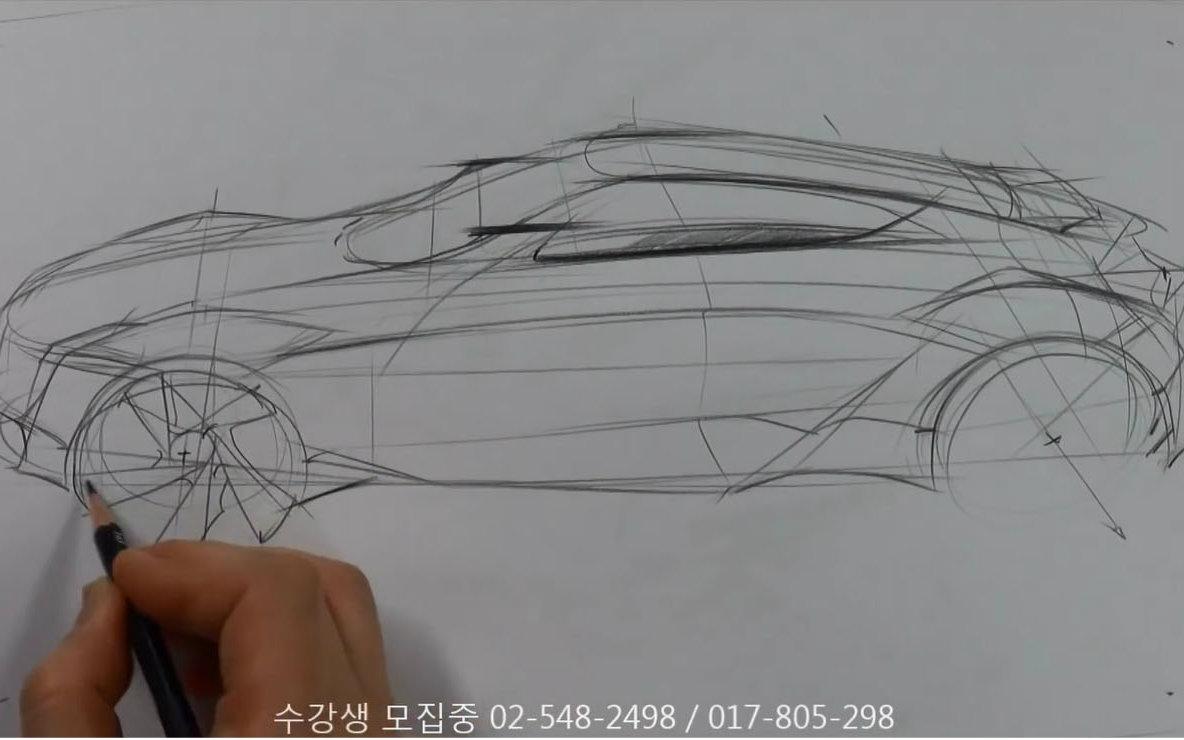 跑车设计创意素描