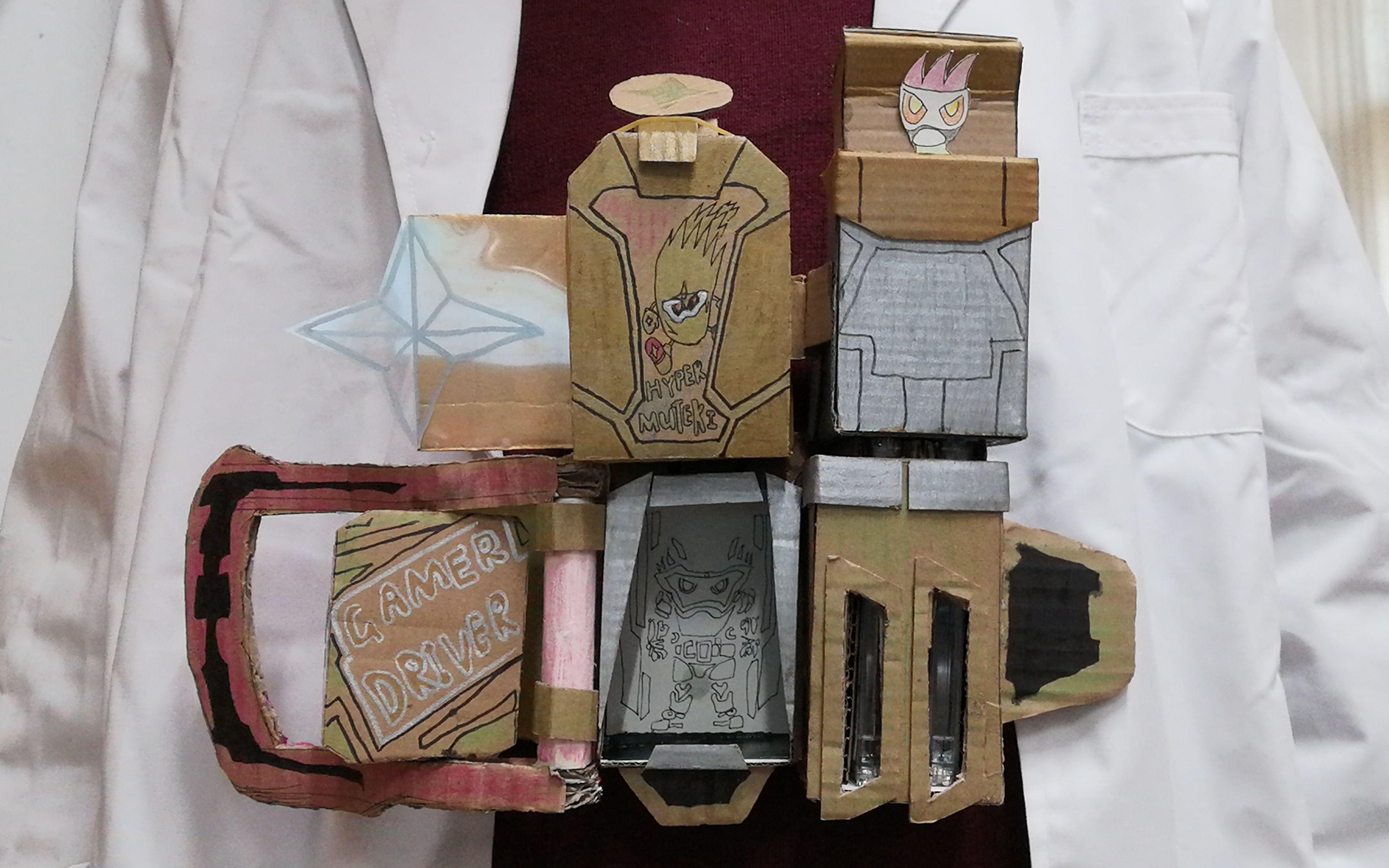 用纸板制作假面骑士exaid无敌玩家腰带_哔哩哔哩 (゜-゜)つロ 干杯~-bilibili