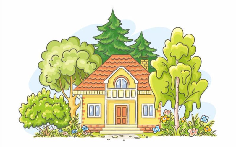 生活小创意论+�_周五的创意美术课--我的小房子_绘画_生活_bilibili
