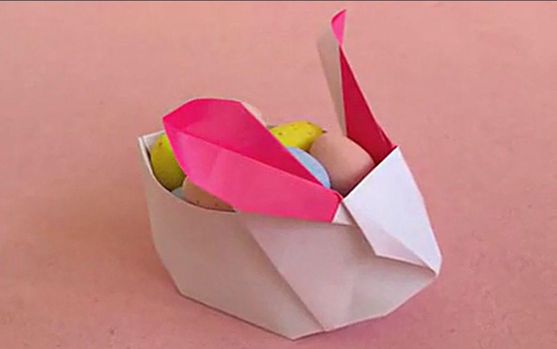 折纸-[兔子收纳盒]折法转载搬运图片