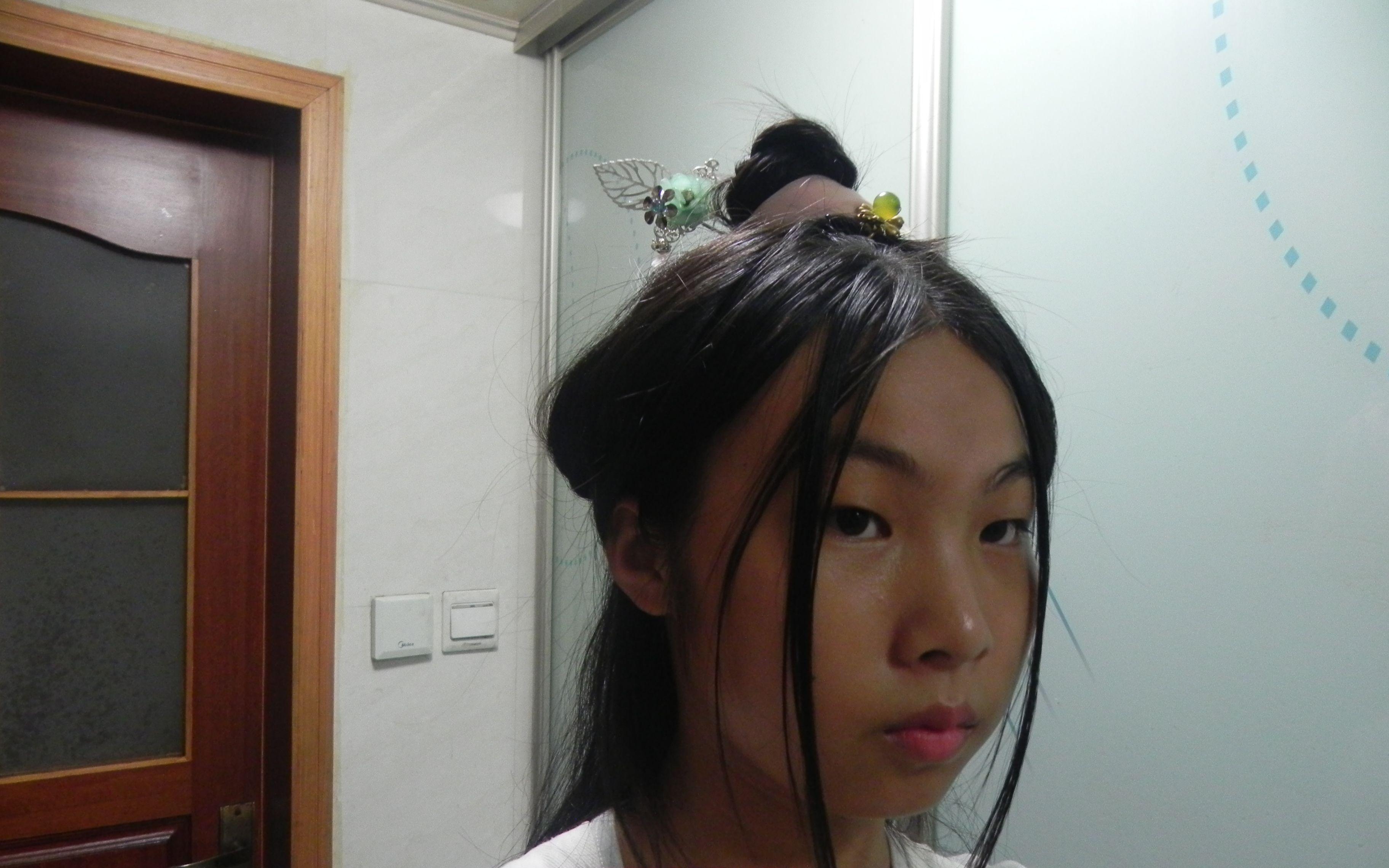 简易的汉服发型⑧