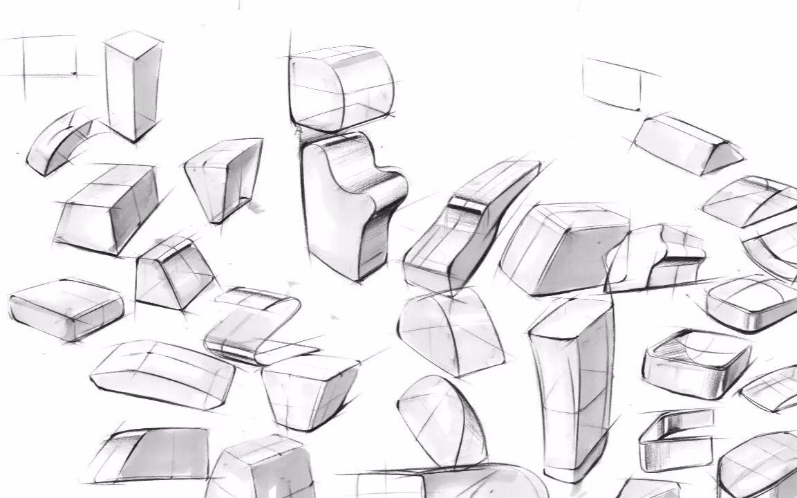 【工业产品设计手绘】造型方法基础:拉伸图片