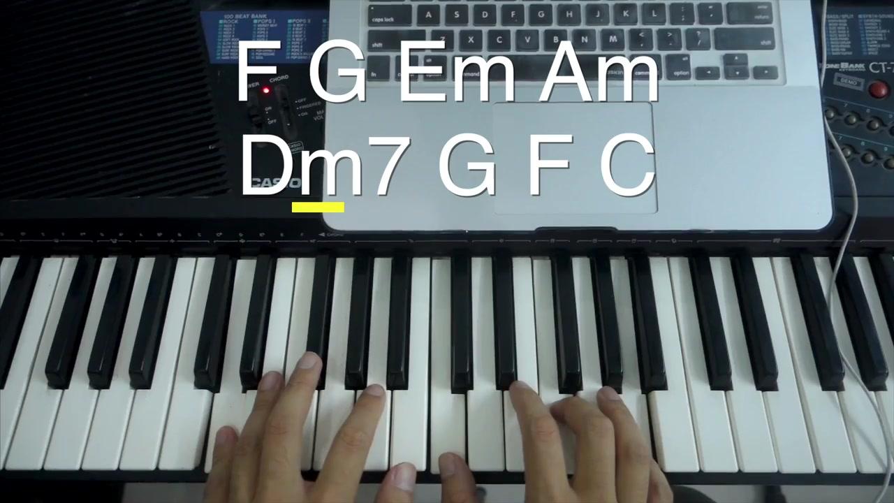 [钢琴键盘弹唱教学 #7] 《突然好想你》初学超级速成