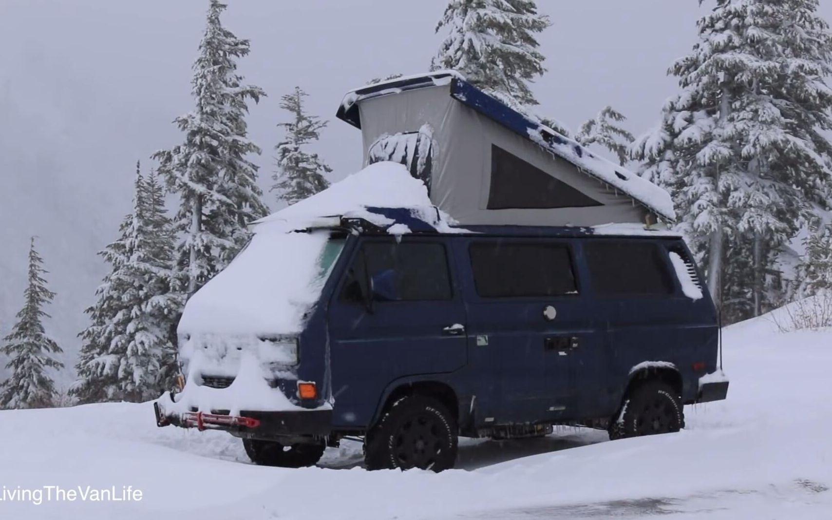 [美国]冬季露营车示范   露营车生活现场