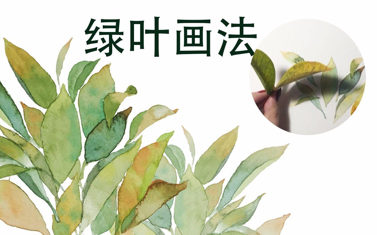 【水彩过程】简单实用初学者手拿大法画树叶图片
