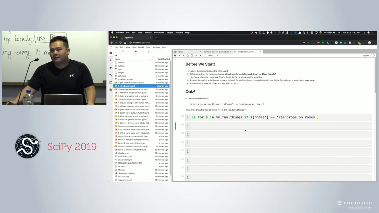Network Analysis Made Simple | Scipy 2019 Tutorial | Eric Ma