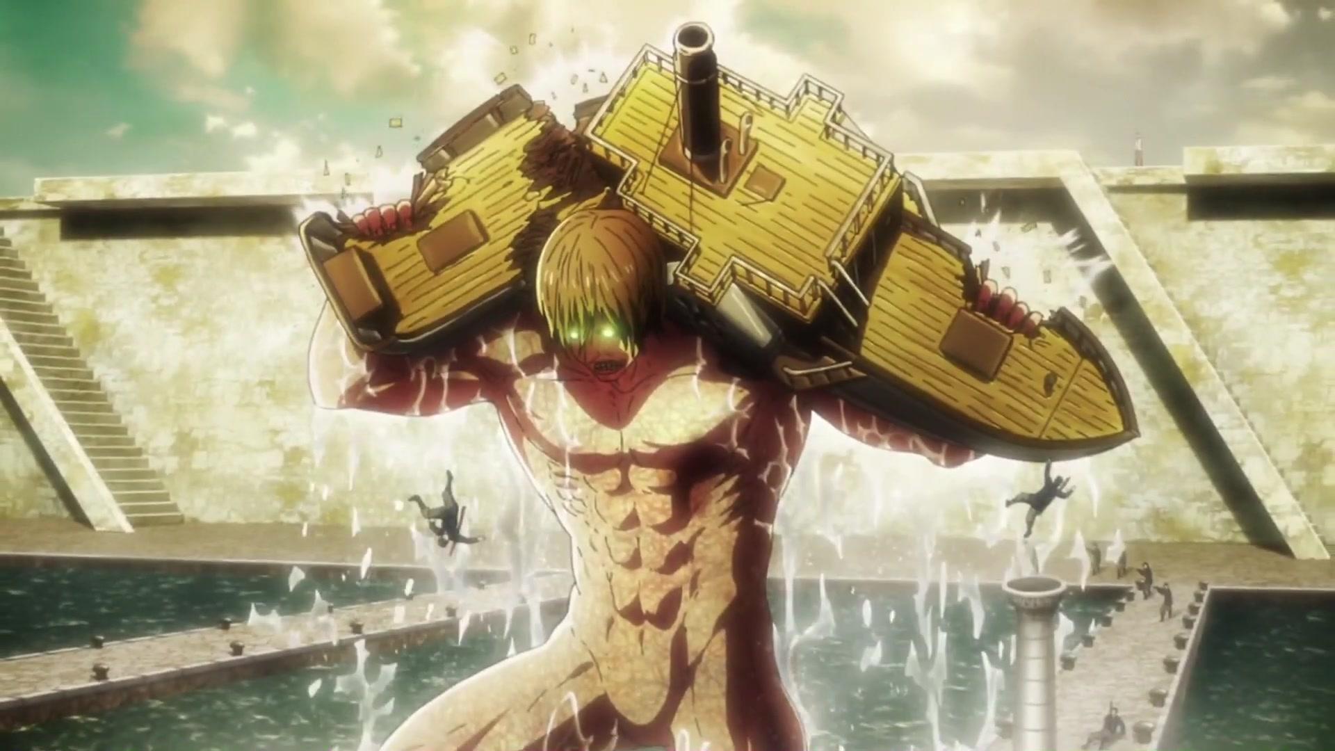 【进击的巨人】S3第20话:艾伦父亲见证艾伦·克鲁格变身进击的巨人