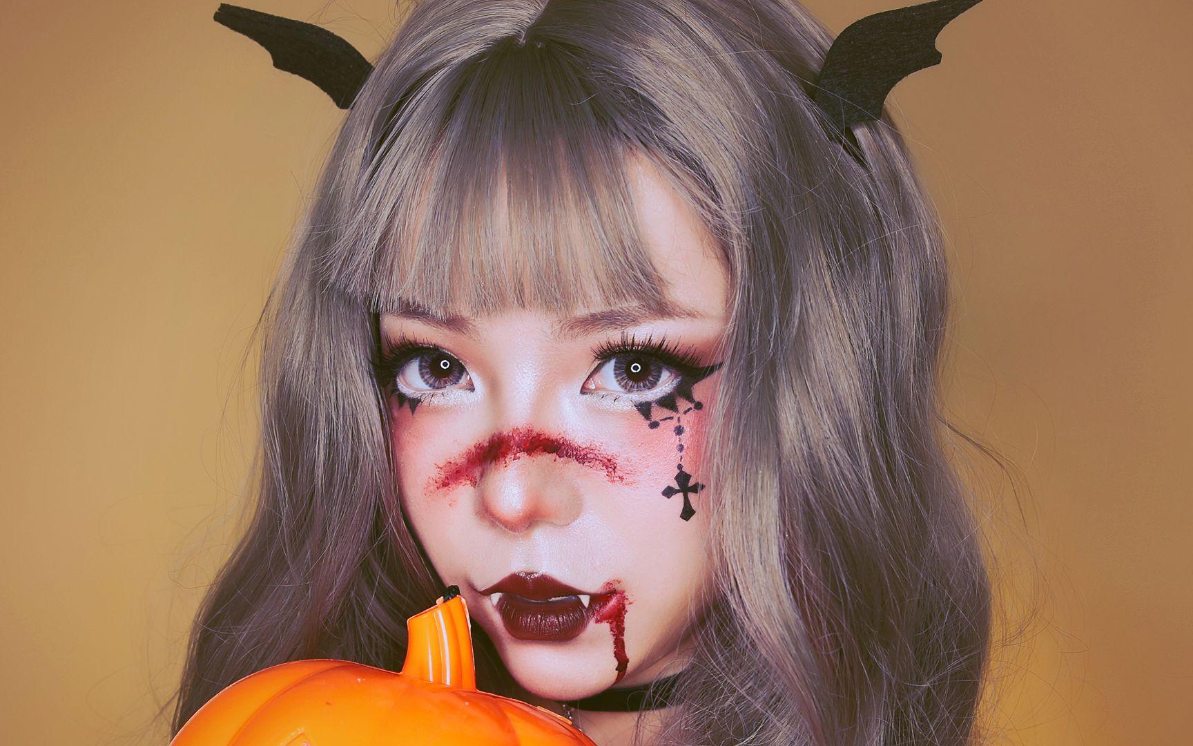 【mooi】万圣节被欺负的暗黑小恶魔萝莉求帅哥哥保护!图片