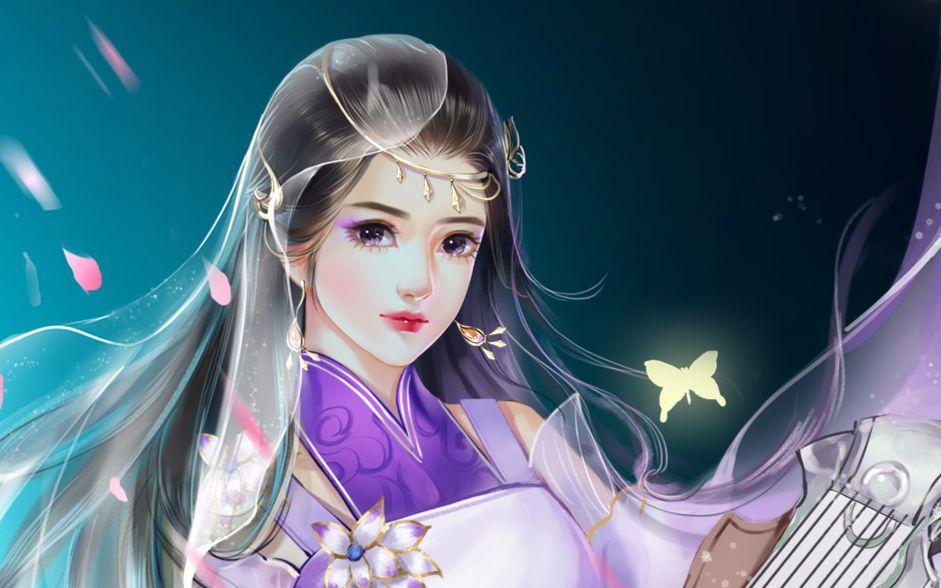板绘 琅琊榜风起长林手游玄音女同人-叶紫紫绘