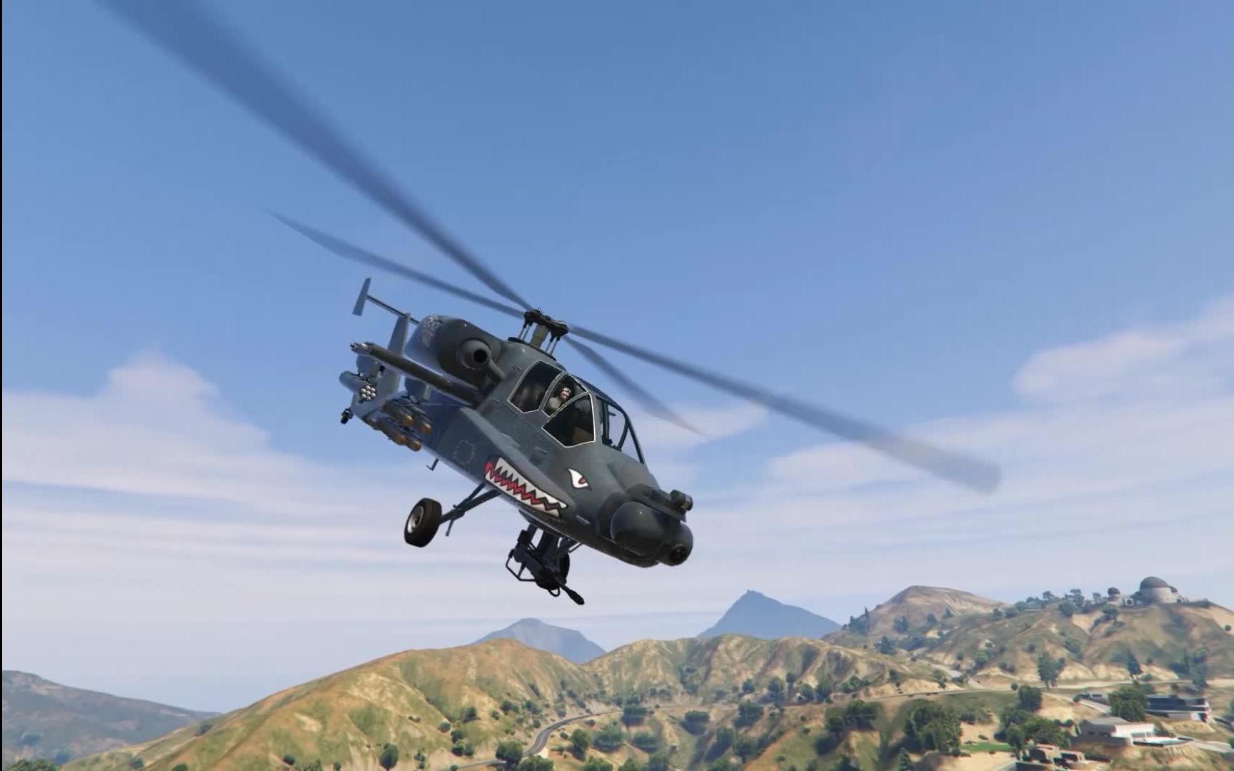 gta5 走私大暴走 猎杀者 阿帕奇直升机 功能评测与介绍
