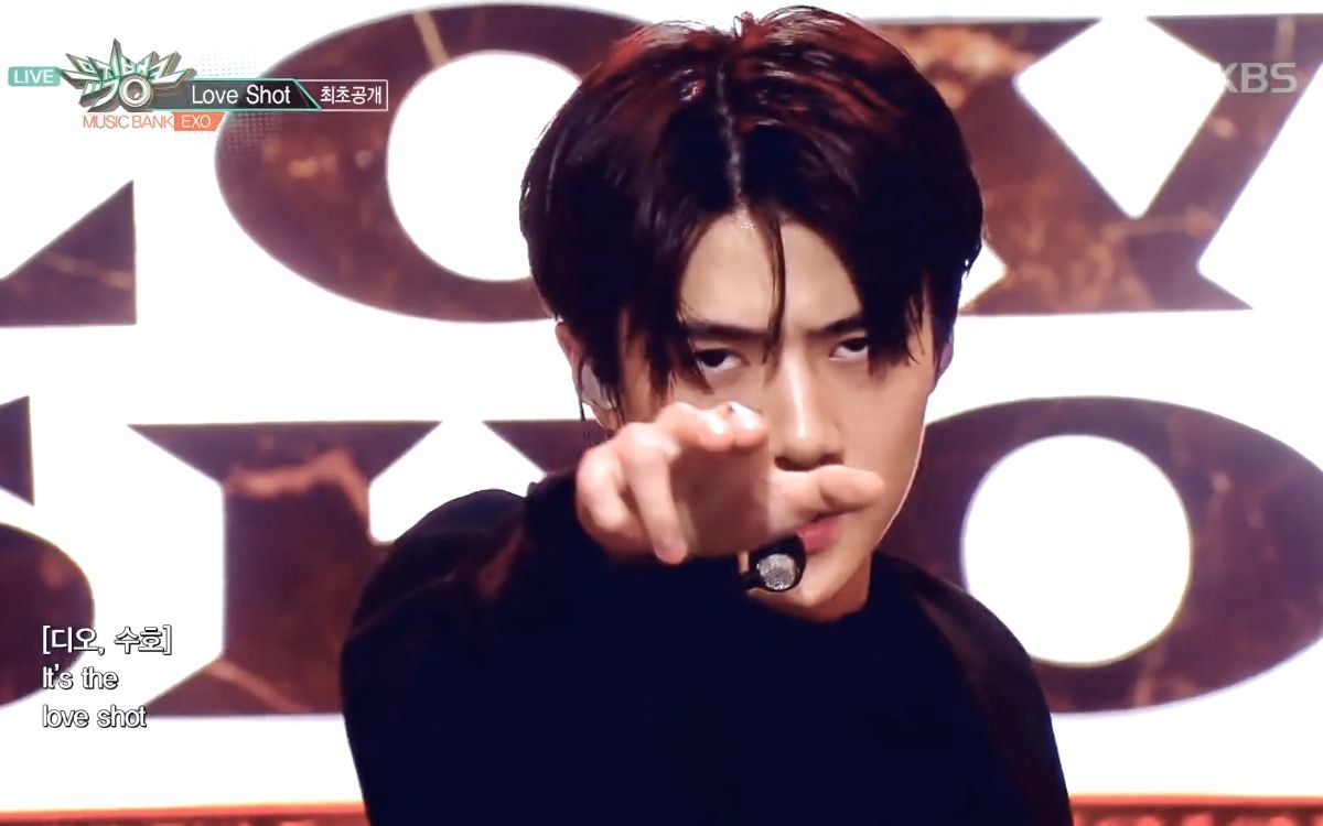 【exo】吴世勋 love shot 4k 打歌舞台和直拍 居然只有三场我恨