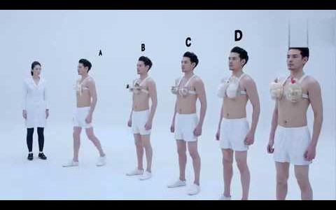 【日本广告】你知道女生胸前的两坨肉多重吗?