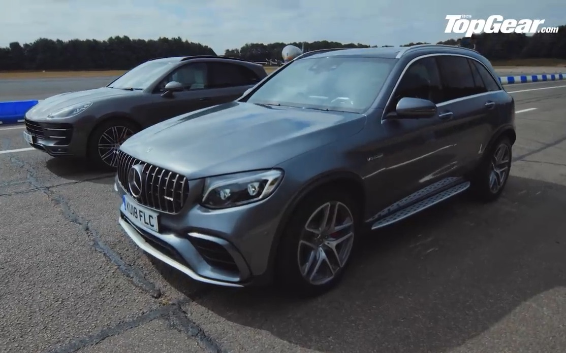 奔驰AMG GLC 63 S直线大战保时捷Macan Turbo with Performance Package