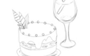【画甜品xx -夏和瞳】新手向.然而只是画了草图=.=(别图片