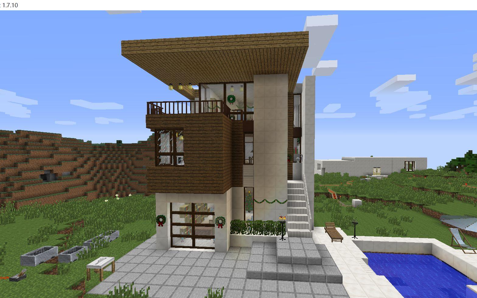 我的世界-三层现代别墅外观及内饰展示
